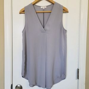Wishlist Clothing Light Gray Sleeveless Blouse